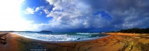 Wolken ziehen auf am Lagkouvardos Beach - Vatias – Greece