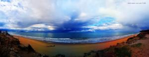 Zarter Regenbogen am Kyllini Beach – Greece
