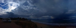 Dicke fette Wolken am Kyllini Beach – Greece