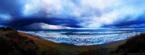 Bedrohlich schaut es aus am Kyllini Beach – Greece