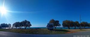 Parking at Kalo Nero Beach - Unnamed Road - Kalo Nero - Trifillia - Greece – 2018