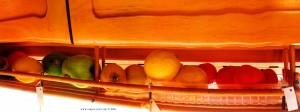 Unser Obstregal - made by Baffo – mit den Zitronen für den nächsten Limoncello