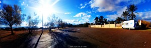 Parking at Avramiou Beach - Avramiou - Kalamata – Greece - January 2019