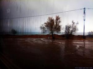 Schon wieder Regen am Avramiou Beach - Greece