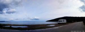 Parking at Kamares Beach - Unnamed Road - Kamares - Anatoliki Mani – Greece – January 2019