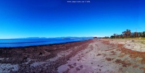 Parking at Vivari Beach - Unnamed Road - Kokkinia – Greece - January 2019