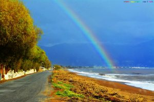 Rainbow at Avramiou Beach – Greece