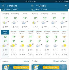 Wetter in Messini bis zum 01.02.2019