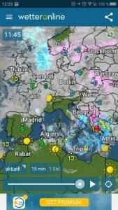 Spanien und Portugal wieder mal fast gänzlich wolkenlos!