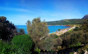 Parking at Diros Beach - Bay Dirou - Unnamed Road - Diros - Anatoliki Mani - Greece - February 2019