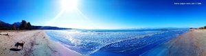 Mit Nicol am Vivari Beach – Greece