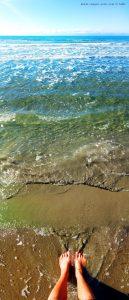 Fussbad am Vivari Beach – Greece
