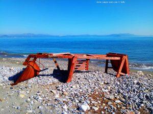 Das war wohl mal ein Sitz für die BayWatch - Cheronisi Beach – Greece