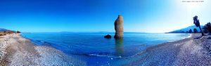 Was dieser Torre wohl zu erzählen hätte? Cheronisi Beach – Greece