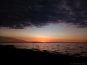 Sunset in Paralia bei Patras – Greece