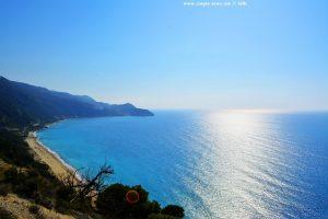 An einem Aussichtspunkt in Lefkada - Greece