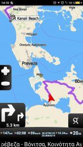 Lotta will partout nicht die direkte Route nach Preveza nehmen!