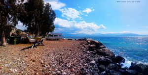 Kaffee-Pause in Paralia Sergoulas – Greece