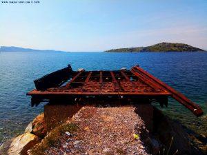 Komisches Gebilde im Wasser - Pachi – Greece