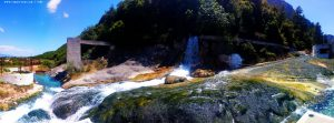 Wild open H2S waterfall and source - Loutra Thermopilon – Greece