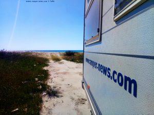 Bei Kaiserwetter fahren wir - Korinos Beach – Greece
