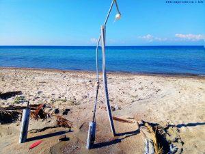 Die kaputte Dusche in Ikismos Lefkes – Greece