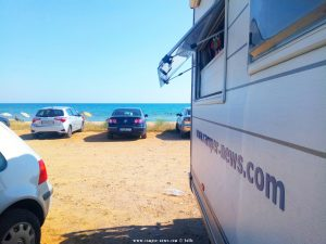 Parking at the Beacht near Nea Chili – Greece