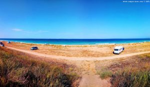Parking at Krapets Beach - Bulgaria - July 2019