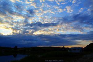Sunset at the Rezervația Acumularea Vișa - Ocna Sibiului – Romania