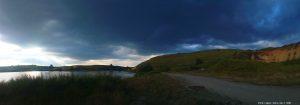 Schon wieder dicke schwere dunkelschwarze Wolken - Rezervația Acumularea Vișa - Ocna Sibiului - Romania