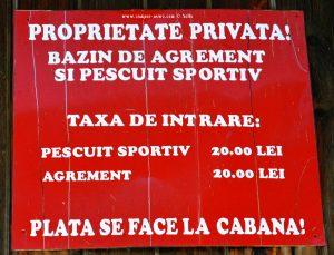 Private Property- Rezervația Acumularea Vișa - Ocna Sibiului – Romania