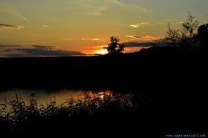 Sunset at Rezervația Acumularea Vișa - Ocna Sibiului – Romania