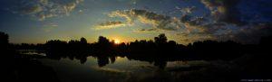 Sunset at River Strei - Simeria Veche – Romania