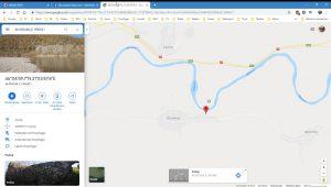 Wir sind da wo der graue Punkt ist - GoogleMaps meint wir wären da, wo der rote Hinweis ist