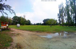 Parking in Balatonoszöd at Balatonoszödi Szabadstrand - Balaton Lake – Hungary – August 2019
