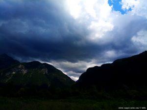 Dunkle Wolken in Villanova - Italy
