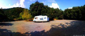 Parking at Parco del Peralto - Via Parco del Peralto 30 - 16136 Genova GE - Italy - September 2019