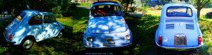 Sehr gepflegter und gut erhaltener FIAT 500 am Lago di Osiglia - Italy – 637m