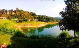 Parking at Lago di Pianfei - Via Boschi, 41, 12013 Pianfei CN, Italy - September 2019