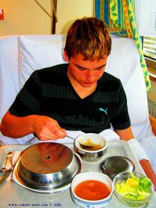 Ostern 2008 - Florian im Krankenhaus in Wels – Austria