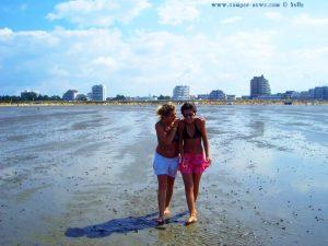 Julia und ich bei der Wattwanderung in Cuxhaven