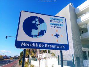 Greenwich-Time at Platja L'Almadrava – Spain