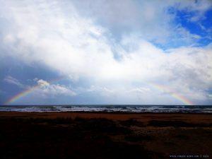Rainbow at Platja L'Almadrava – Spain
