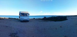 Parking at Camino del cabo - 03130 Santa Pola - Alicante - Spain - January 2020