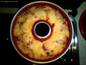 Blumenkohl-Lauch Auflauf mit Bacon - Platja L'Almadrava - Spain