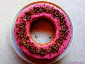So schaut der fertige Rotweinkuchen aus - Platja L'Almadrava – Spain