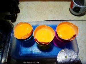 Vorbereitung für Dinner → Spiegelei auf grünen Butterbohnen - Dinner in Jesús Pobre – Spain