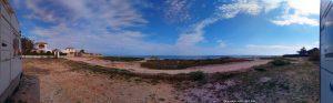 My View today - Platja L'Almadrava – Spain – 180° View!