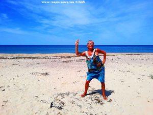 Hallo Heidi - meine Wenigkeit am Platja L'Almadrava – Spain
