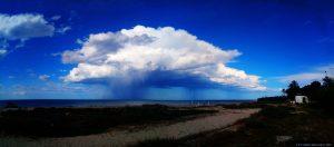 Regenwolke am Platja L'Almadrava ─ Spain ─ wieder ein Panorama-Bild aus 4 Einzelbildern